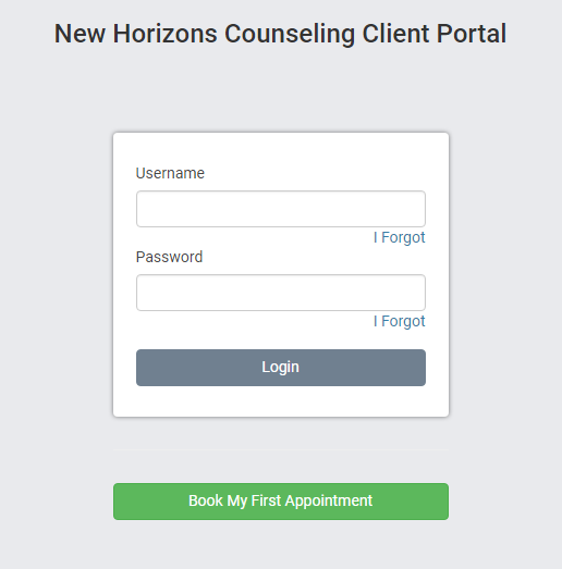 New clients receive an email invitation to use the client portal in TherapyZen